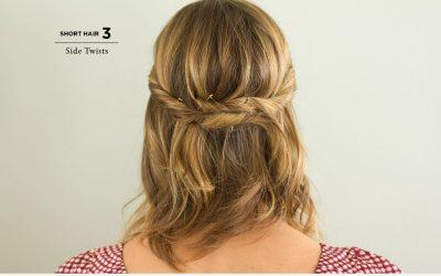Peinado sencillo para pelo corto, paso a paso