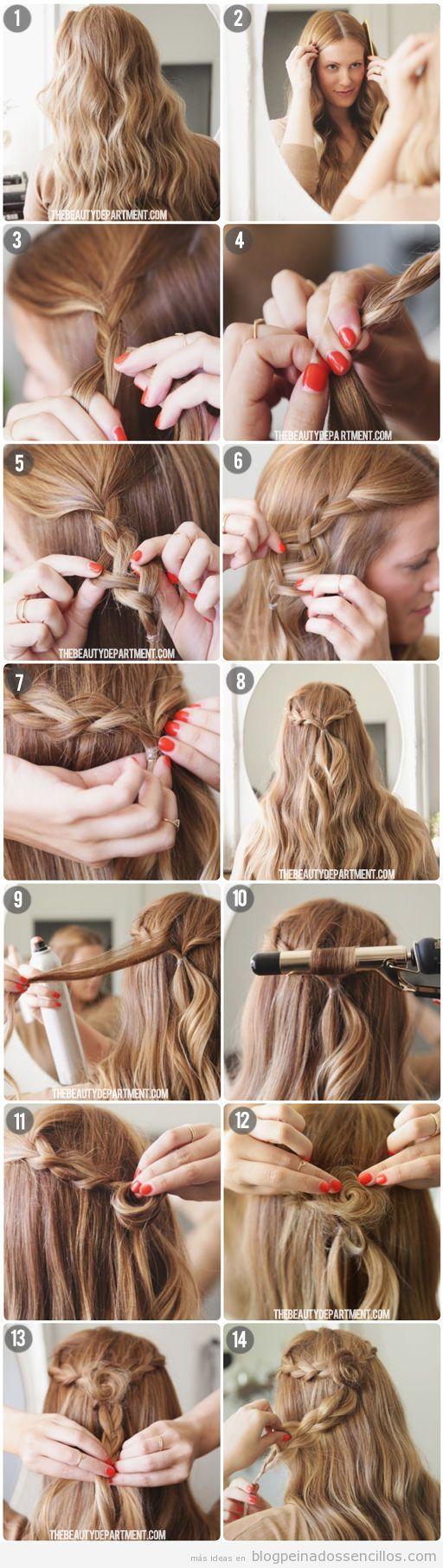 Tutorial peinado sencillo pelo largo