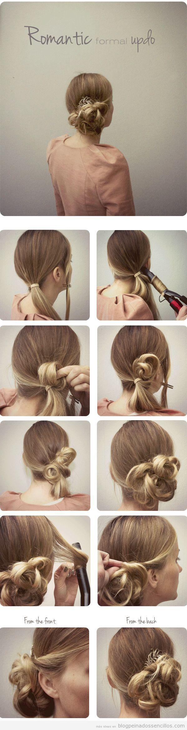 peinado sencillo para fiestas y bodas moo bajo tutorial paso a paso