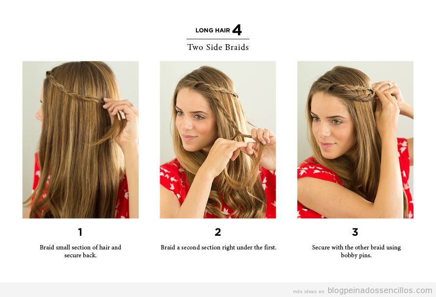 Quick Hairstyles For Short Hair In The Morning : Lateral Peinados sencillos Tutoriales y v?deos que ense?an a ...