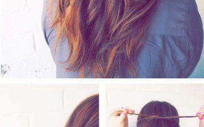 Semirrecogido con forma de lazo, un peinado sencillo paso a paso