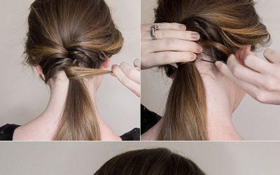 Peinado sencillo mitad trenza de dos, mitad coleta (tutorial)
