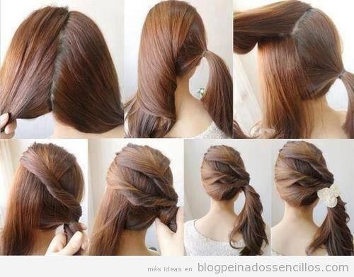 Una Coleta Al Lado Peinado Sencillo Y Elegante Para Fiestas Y Bodas