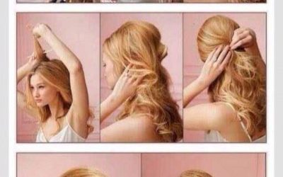 Semirrecogido con el pelo ondulado, tutorial paso a paso