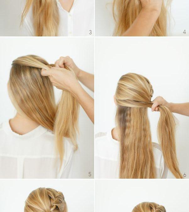 Trenza deshecha a un lado para pelo muy largo, paso a paso