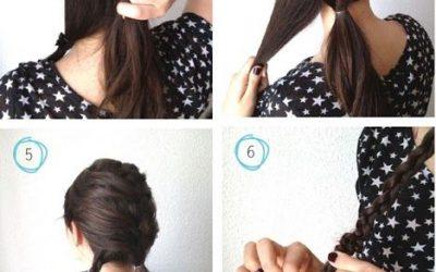 Media trenza, peinado sencillo paso a paso