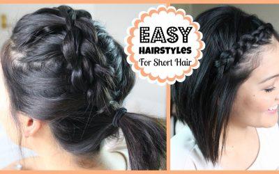 Ideas para hacerte peinados fáciles para pelo corto y media melena (vídeo)