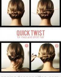 Recogido «twist» para pelo corto y media melena, tutorial paso a paso