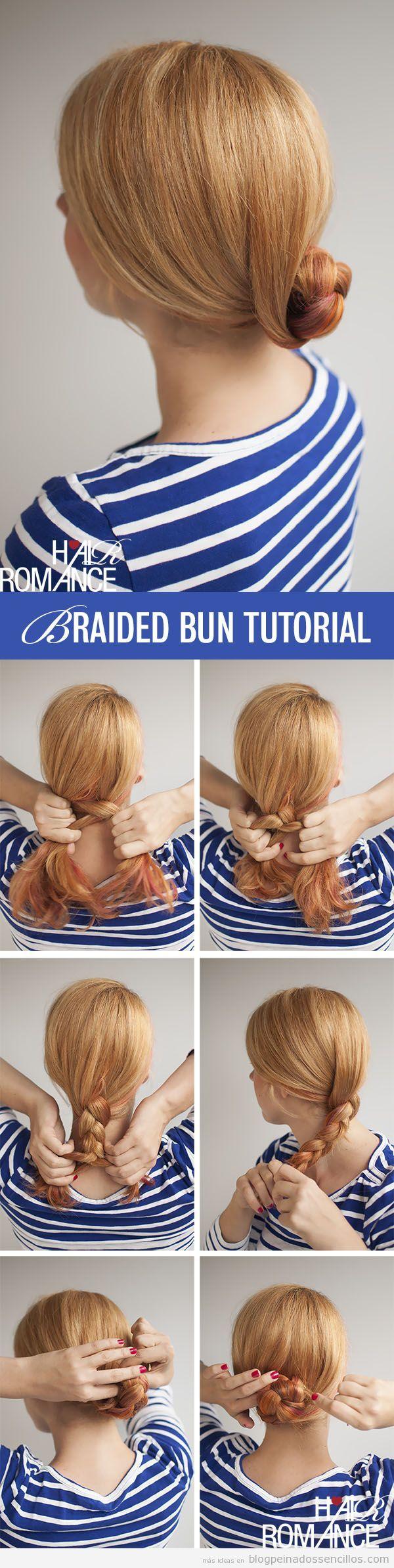 tutorial peinados sencillos moo bajo con trenza