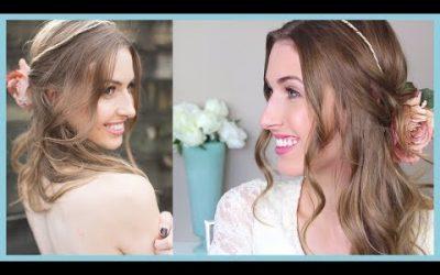 2 peinados sencillos románticos para novias (videotutorial)
