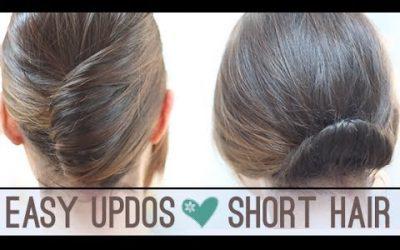 Recogidos fáciles para pelo corto (videotutorial)
