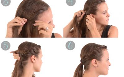 Cómo hacer un moño twist con trenza lateral, peinado fácil paso a paso