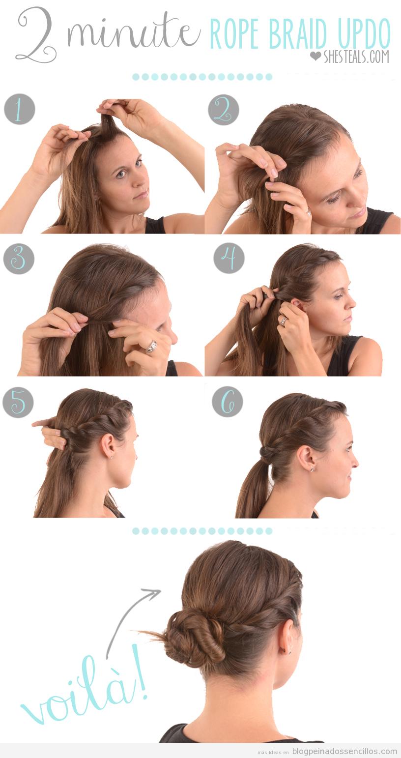 Como Hacer Un Mono Twist Con Trenza Lateral Peinado Facil Paso A