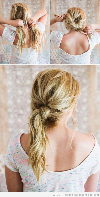 tutorial peinado fcil y rpido con coleta