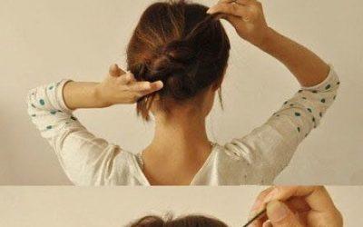 Una manera muy fácil de hacer un moño con un nudo