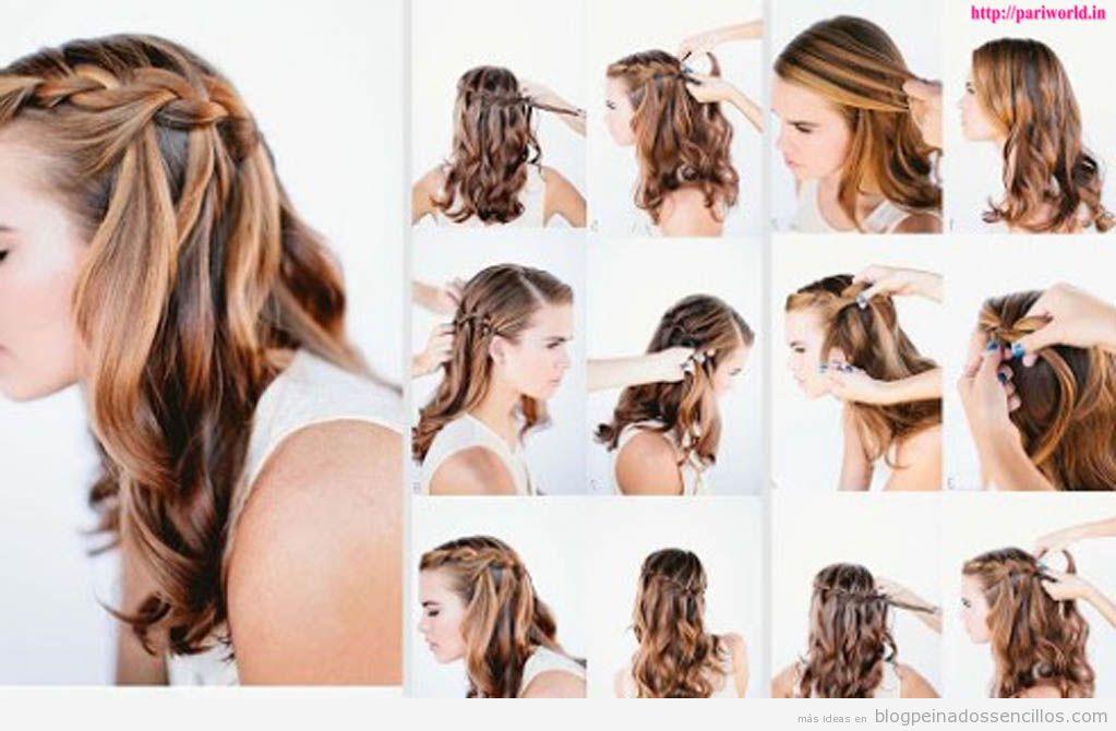 Cómo Hacer Una Trenza De Cascada Paso A Paso Peinados Sencillos