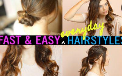 Cuatro peinados rápidos y fáciles de hacer para el día a día (vídeo)