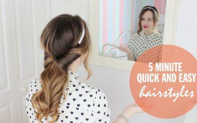 Videotutorial para aprender a hacer peinados sencillos en 5 minutos