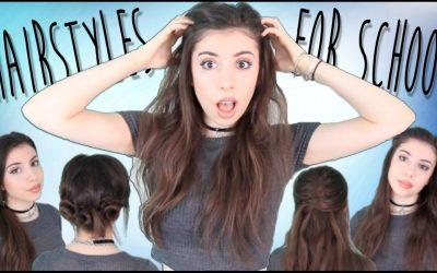 4 peinados fáciles sin utilizar calor para ir al instituto (videotutorial)