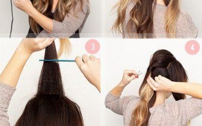 Cómo hacer un peinado con coleta bajal, muy elegante y fácil