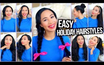 Varios peinados sencillos para chicas con mucho pelo, ideal para estas fiestas (vídeo)