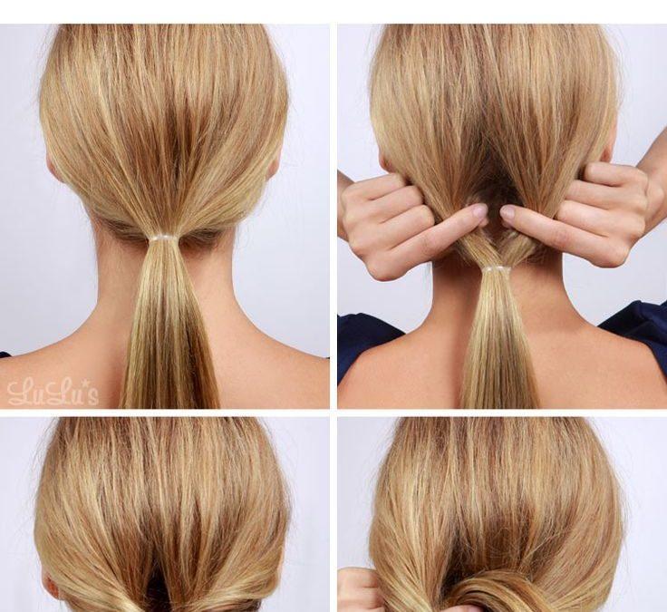 tutorial para aprender a hacer recogido bajo sencillo para fiestas y bodas - Peinado Facil