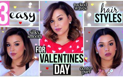 3 peinados para pelo corto ideales para San Valentín (videotutorial)