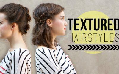 Peinados fáciles y sin esfuerzos para media melena y con texturas, vídeo paso a paso
