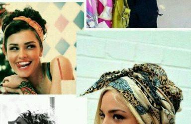 Ideas para hacer peinados con diademas y pañuelos, estilo «boho»