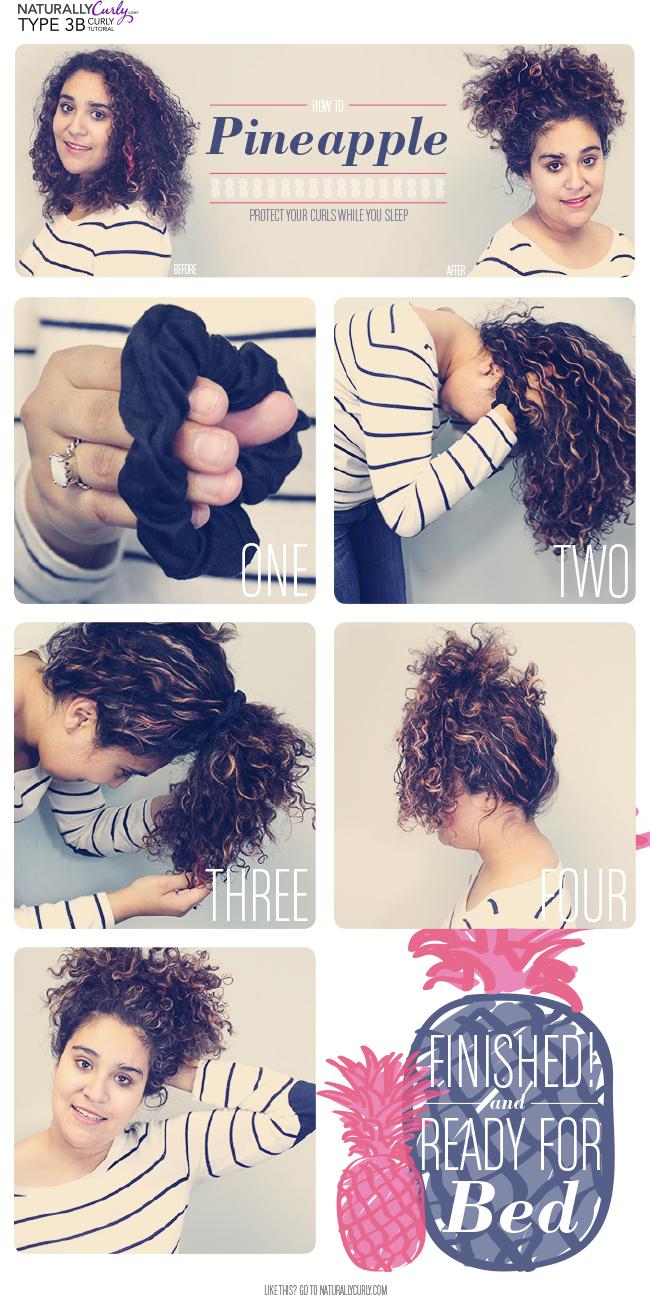 Tutorial peinado estilo piña para pelo rizado