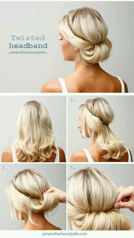 tutorial peinado fcil recogido con diadema