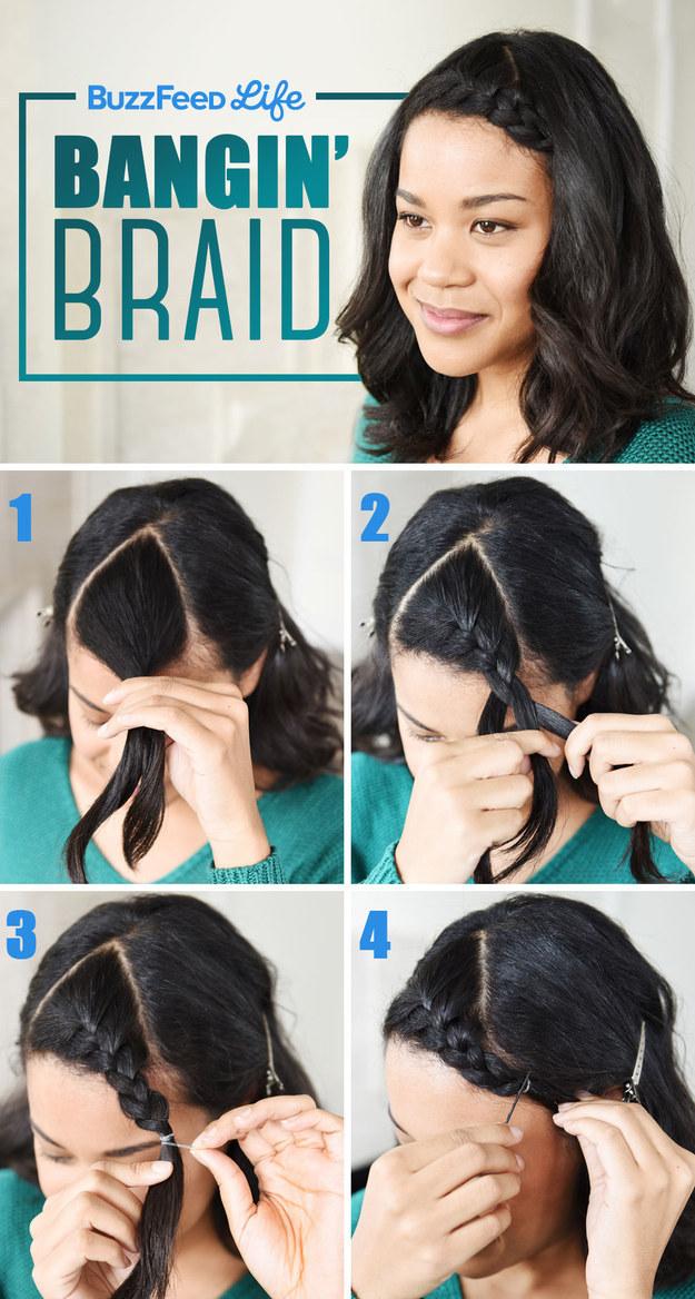 10 peinados fáciles para quitar flequillo cara 7