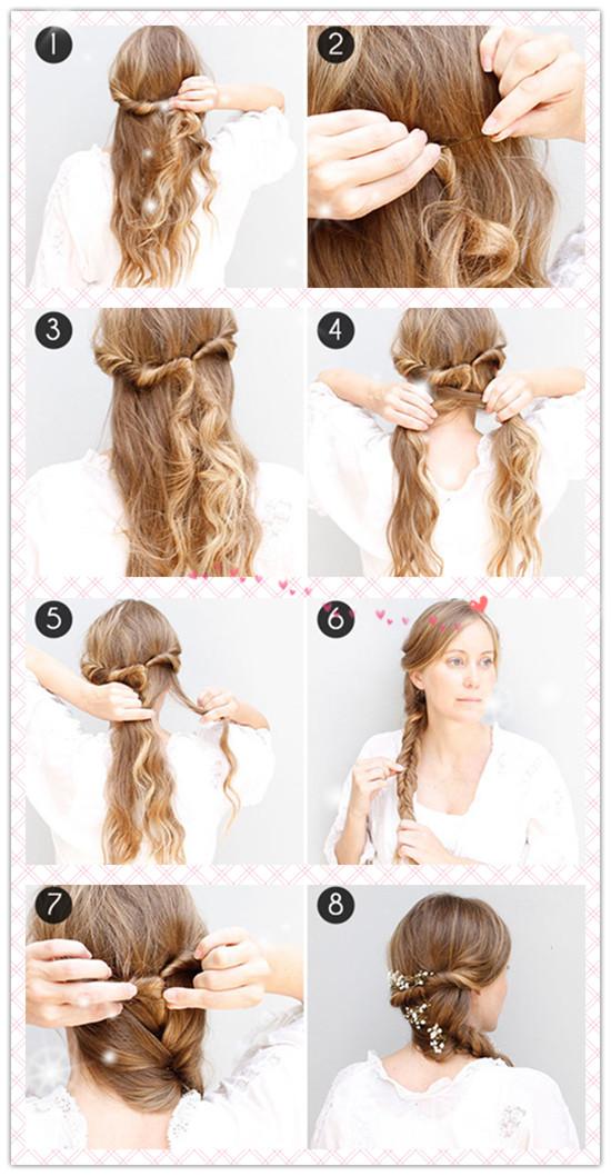 Tutoriales peinados sencillos con trenzas para fiestas graduación 3