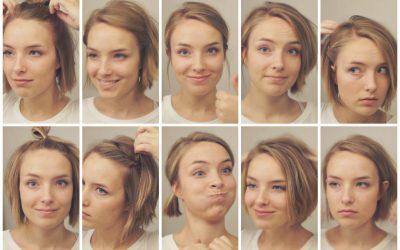 10 peinados fáciles para pelo corto por debajo de las orejas (Vídeo)
