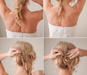 Peinado fácil, sencillos y bonito para la novia en una boda (Tutorial)