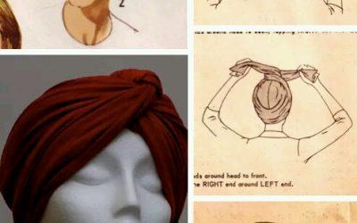 Pelo desastroso? Turbante hecho con un foulard paso a paso