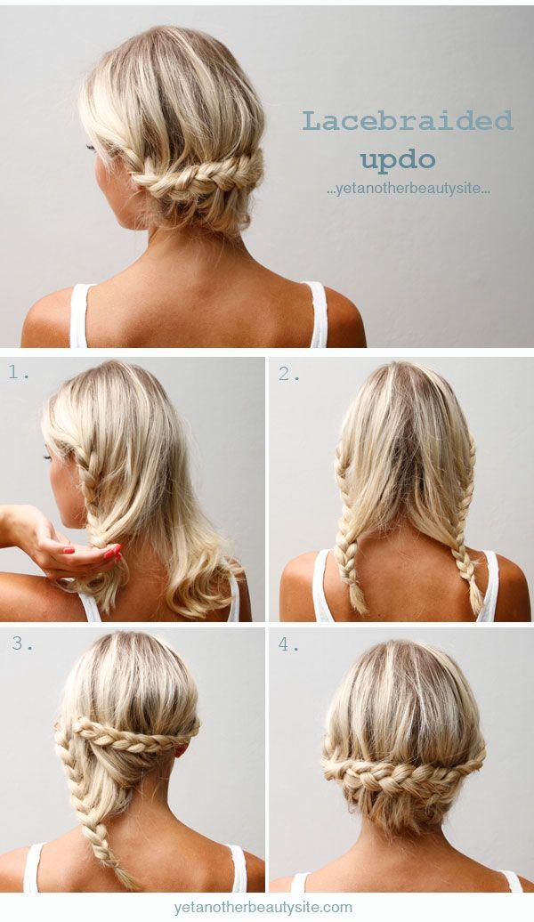 tutorial peinado sencillo recogido bajo con dos trenzas