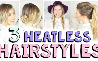 3 peinados sencillos y sin aplicar calor para otoño, videotutorial paso a paso