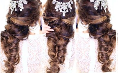 Peinado para boda en otoño 2015, trenzas cruzadas (Video)