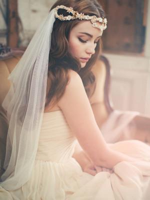 4 Peinados para novias con velo, bodas 2015