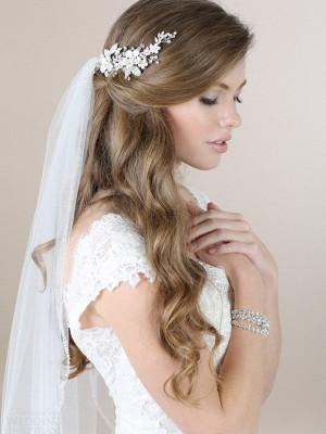 2 Peinados para novias con velo, bodas 2015