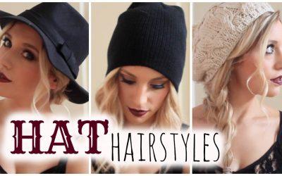 Peinados para llevar con gorros, boinas y sombreros (Vídeo)