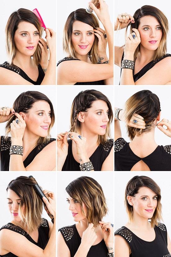 Tutorial peinado sencillo y rápido para pelo corto