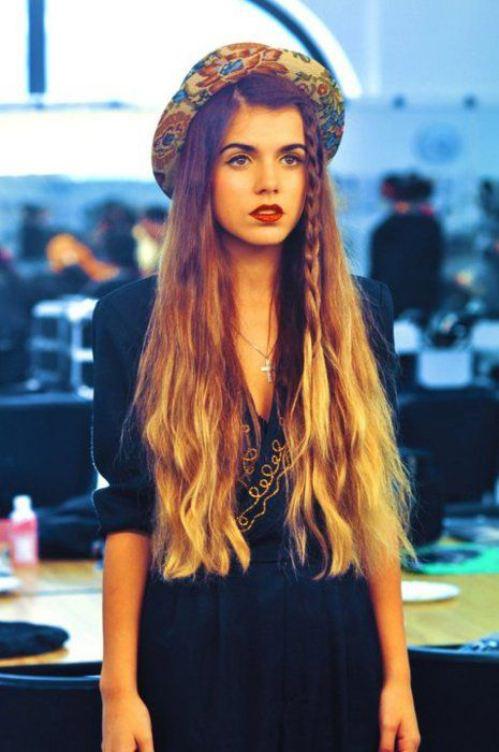 Peinados fáciles para chica hipster con sombrero 2