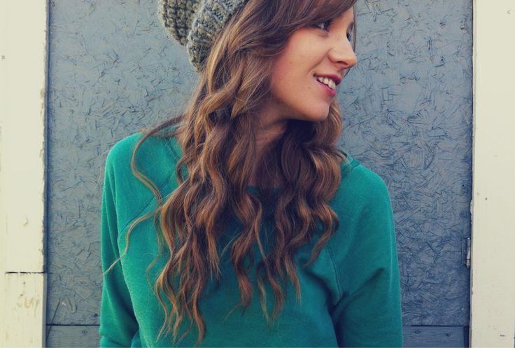 peinados fciles para chica hipster con gorro