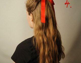 Peinados sencillos con diademas y lazos navideños elegantes