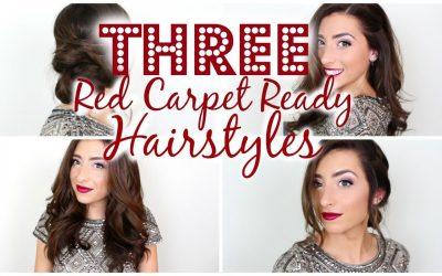 Tres peinados fáciles inspirados en los que vemos en la alfombra roja (Videotutorial)