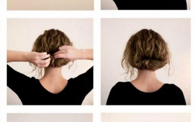 Recogido bajo para chicas con el pelo corto y ondulado, paso a paso