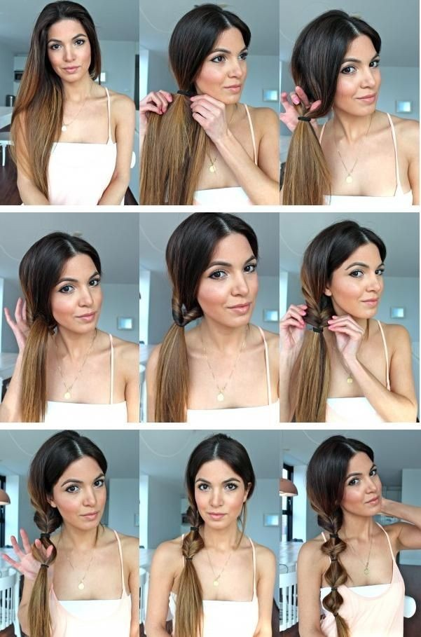 Coleta lateral burbuja retorcida, tutorial peinado sencillo