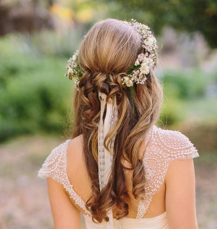 Peinados Para Novias Con Coronas O Tocados De Flores Peinados